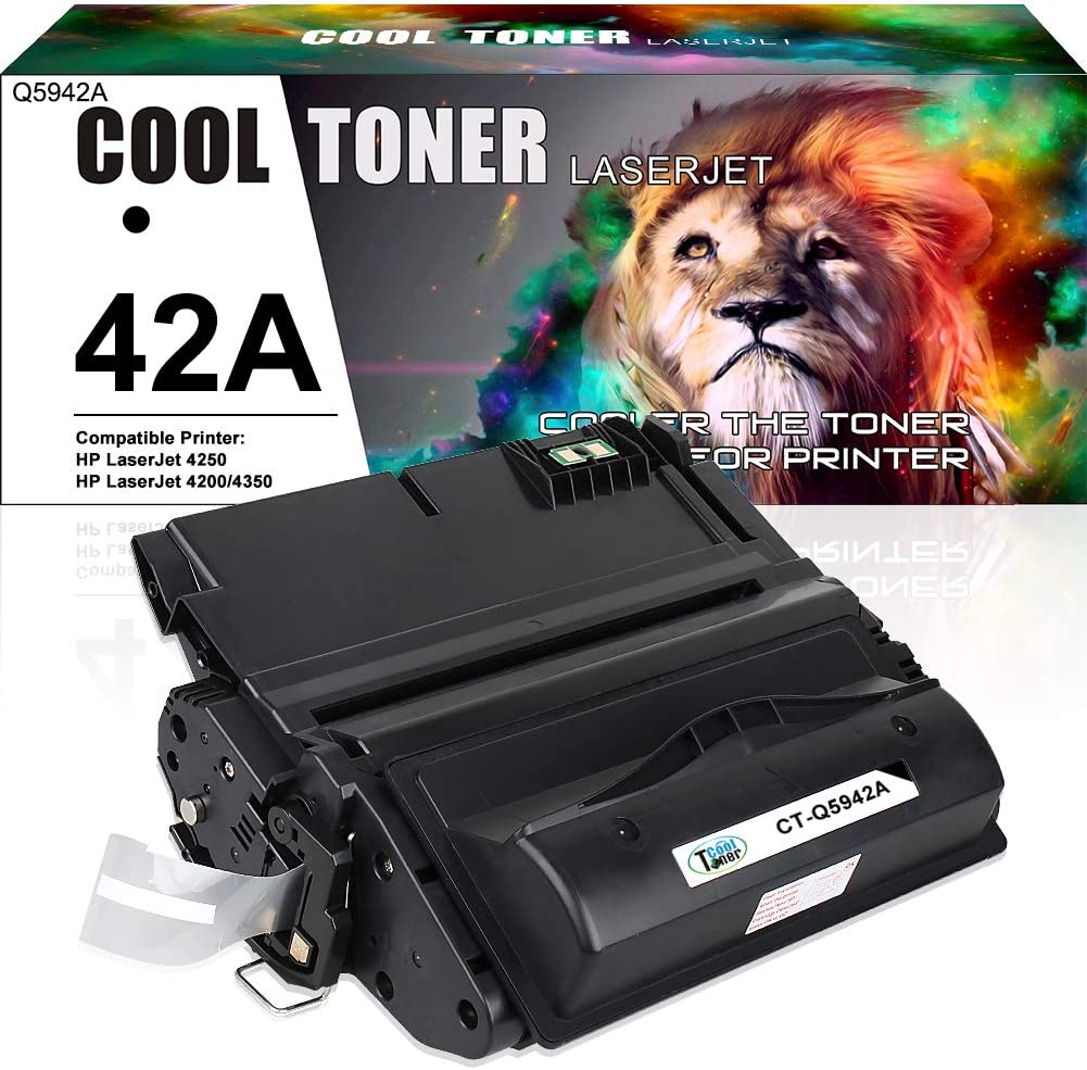 Cool Toner Compatible Toner Cartridge Replacement for HP 42A Q5942A Q5942 Q1338A Used for HP Laserjet 4200 4240 4250 4250TN 4250N 4250DTN 4300 4350 4345MFP 4350N 4350TN 4350DTN Printer Ink (1 Pack )