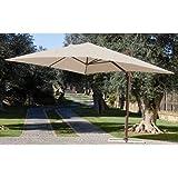 My_Garden M0430 Ombrellone Senso, 300x285x270 cm, Ecré