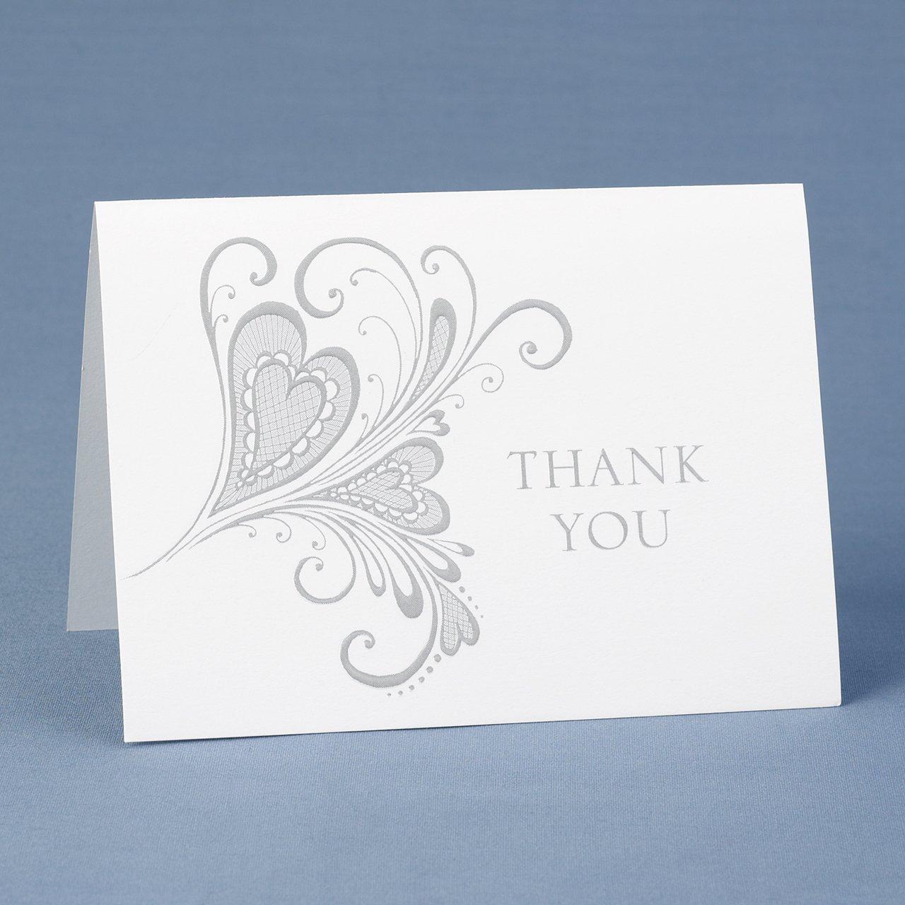 amazoncom hortense b hewitt heartfelt thank you cards wedding accessories set of 50 home u0026 kitchen