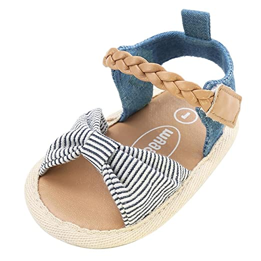 Sandalias niñas Xinantime Zapatos bebés de Verano para niñas Chica Sandalias con cinturón Tejido bebé Sneaker