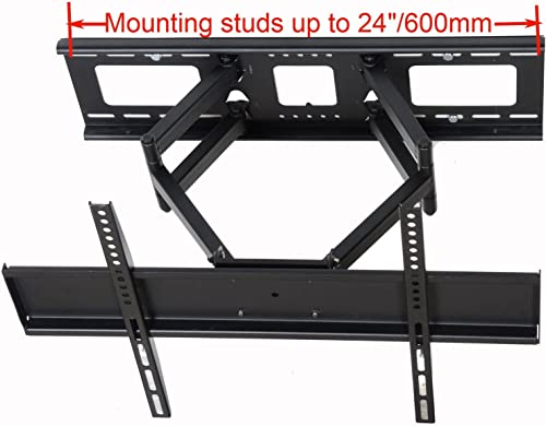 VideoSecu Tilt Swivel TV Wall Mount 32 – 70 LCD LED Plasma TV with VESA 200×200,400×400,up to 600×400 mm, Full Motion Articulating Dual Arm Mount Fits up to 24 Studs, Free HDMI Cable MW365B2H C20