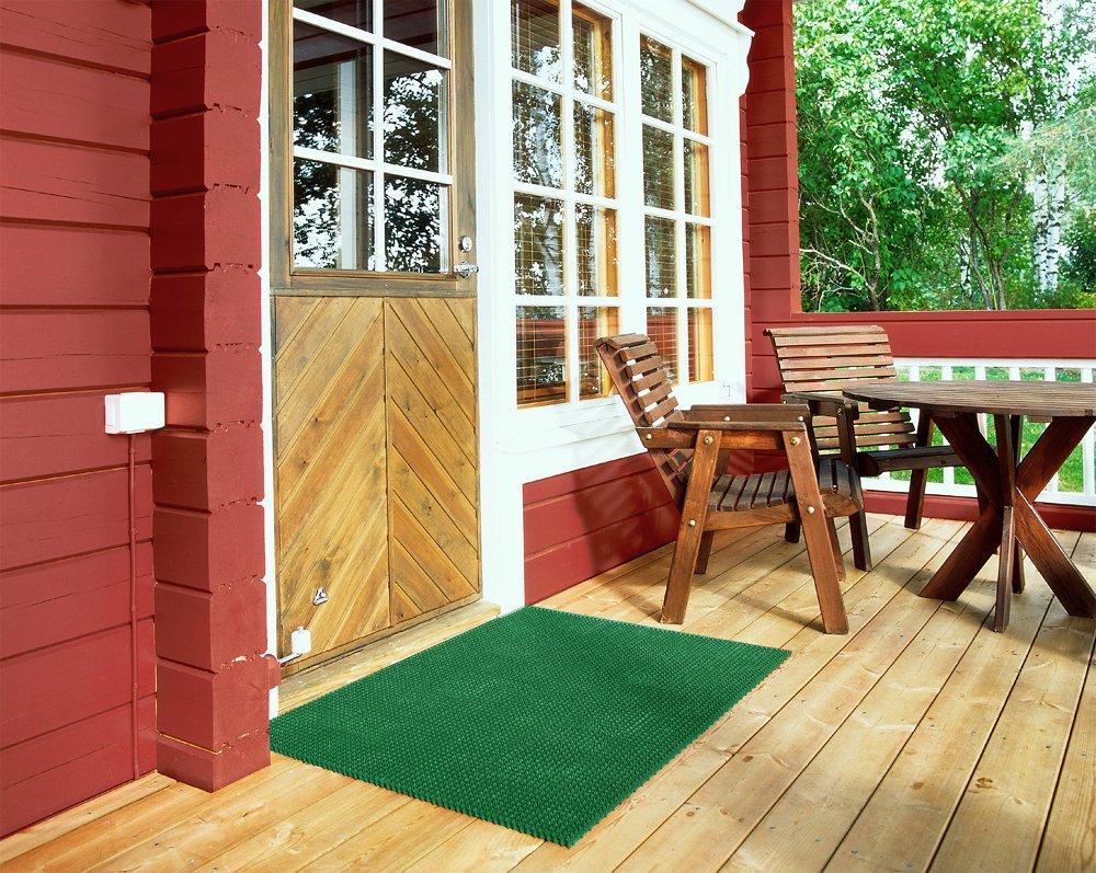 Fußabstreifer Rasenmatte für Außenbereiche Außenbereiche Außenbereiche (Blau   57x86 cm) modular erweiterbare, robuste Bürstenmatte - Höhe 17 mm - gegen groben Schmutz, Sand, Steinchen und Nässe B00KG7K836 Fumatten f5356a