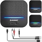 ELEGIANT Bluetooth-mottagare 5.0 Adapter Ljudmottagare 3D-ljudeffekt med låg latens 20 timmar Speltid 50 m Räckvidd för…