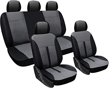 Car Seat Covers Fit DACIA DUSTER-Set completo in Similpelle Nero