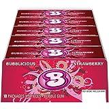 Bubblicious Strawberry Bubble Gum, 18 Count