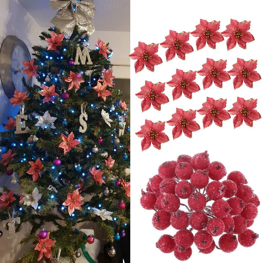 Bayas artificiales blancas pequeñas X 12-Corona De Navidad Decoración de Pasteles Floristería