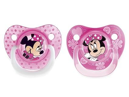 SISTEMA Paquete 2 chupetes de silicona caen Minnie 6m ...