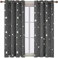 Deconovo Foil Print STAR Blackout Curtain