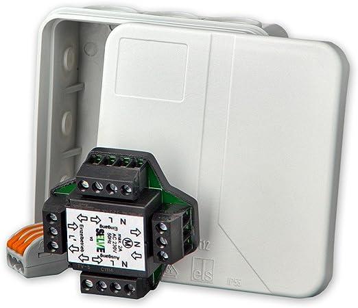 Relé separador con caja, Relé para regular paralelo de 2 motores de persianas, Selve, art.: 295008 + Gratis everoxx® Detector de fase: Amazon.es: Iluminación