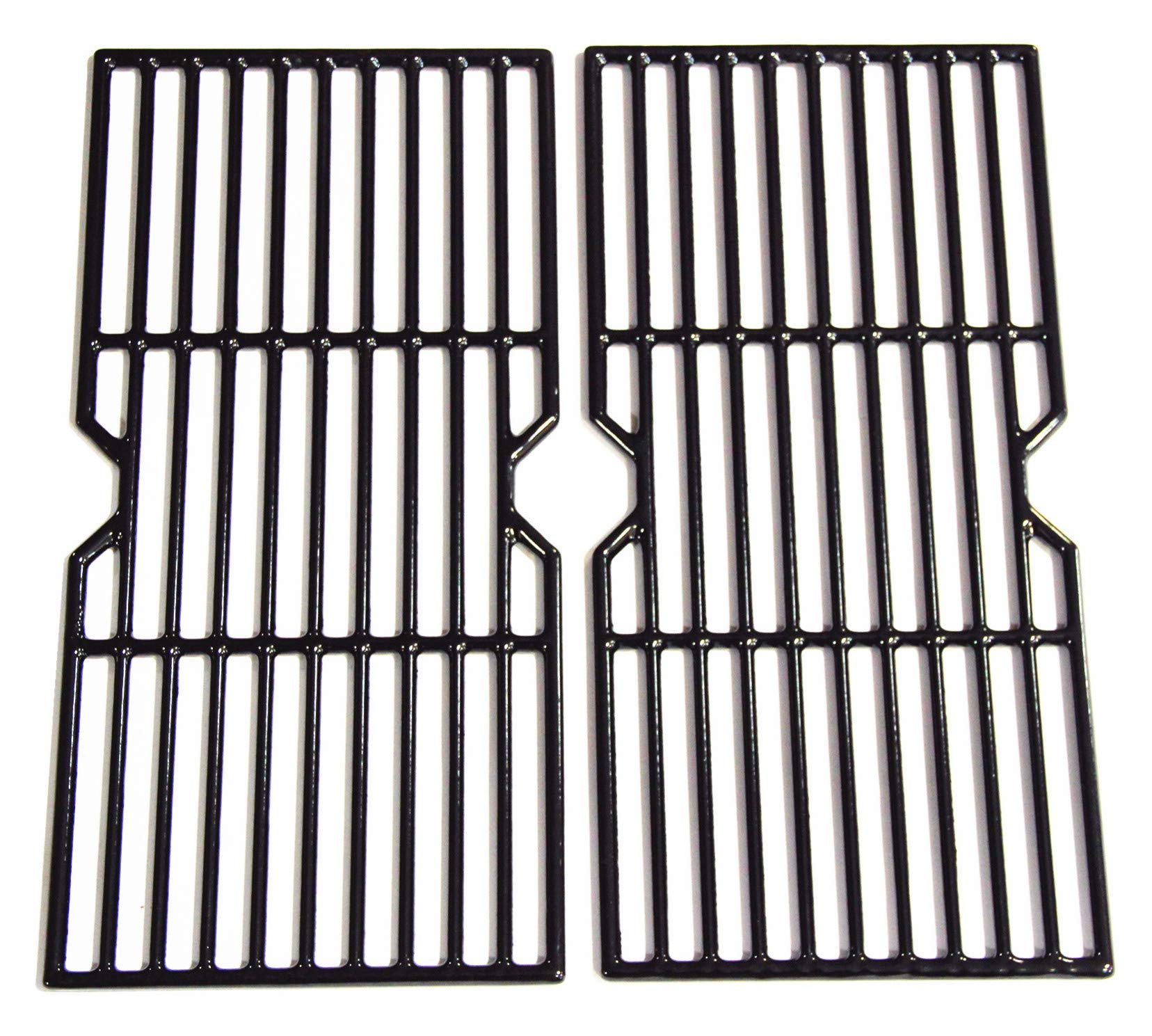 Hongso PCF123 Porcelain Coated Cast Iron Cooking Grid Grates Replacement for Select Gas Grill Models by Kenmore, Charbroil, Thermos, Set of 2 by Hongso