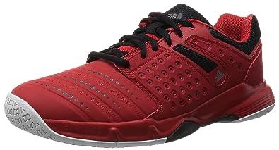 new style 05236 c581f adidas Unisex-Erwachsene Court Stabil 12 Handballschuhe, RotSchwarz  Weiß  (Rojint
