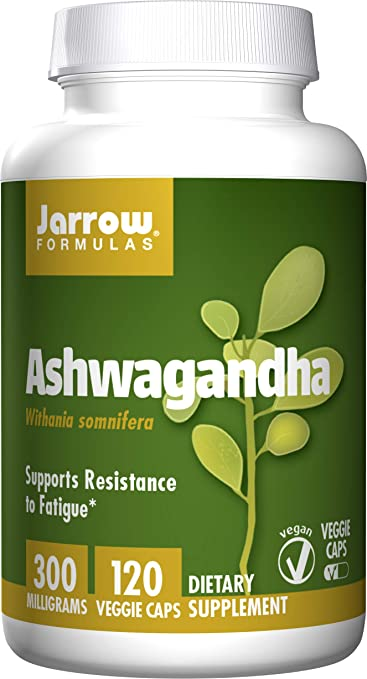 Jarrow Formulas Ashwagandha 300 mg, Supports Resistance to Fatigue, 120  Veggie Caps