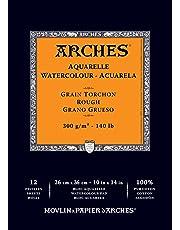 "Arches - Almohadilla para Acuarelas, áspero, 10""x14"", 1, 1"