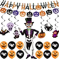 Decoration Station's Halloween Party Decorations (Hanging Skeleton Props, Photo Props, Balloons, Banners and Tassels)