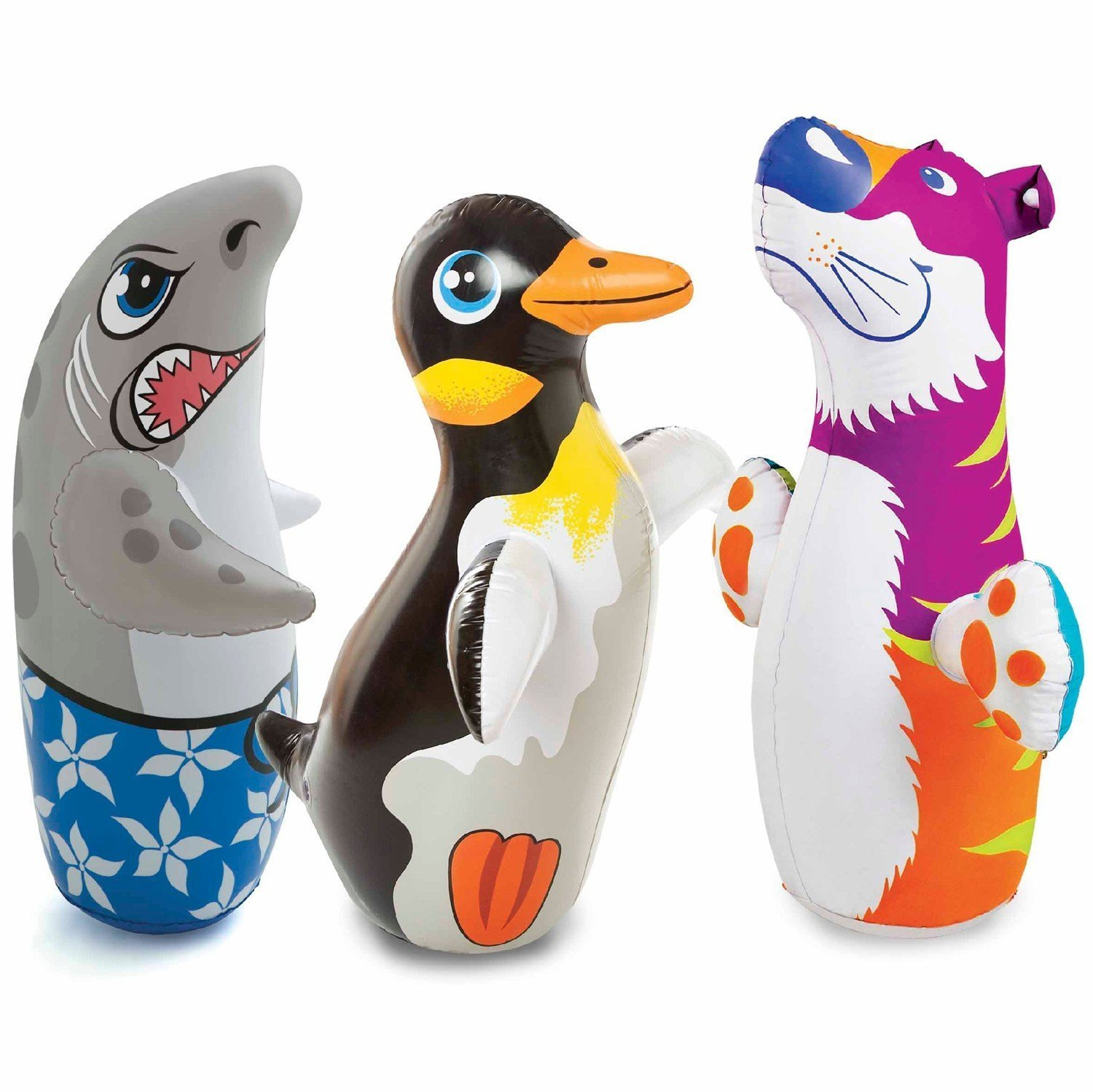 1 X 3D Bop Bag Blow up Inflatable Animals Styles Vary