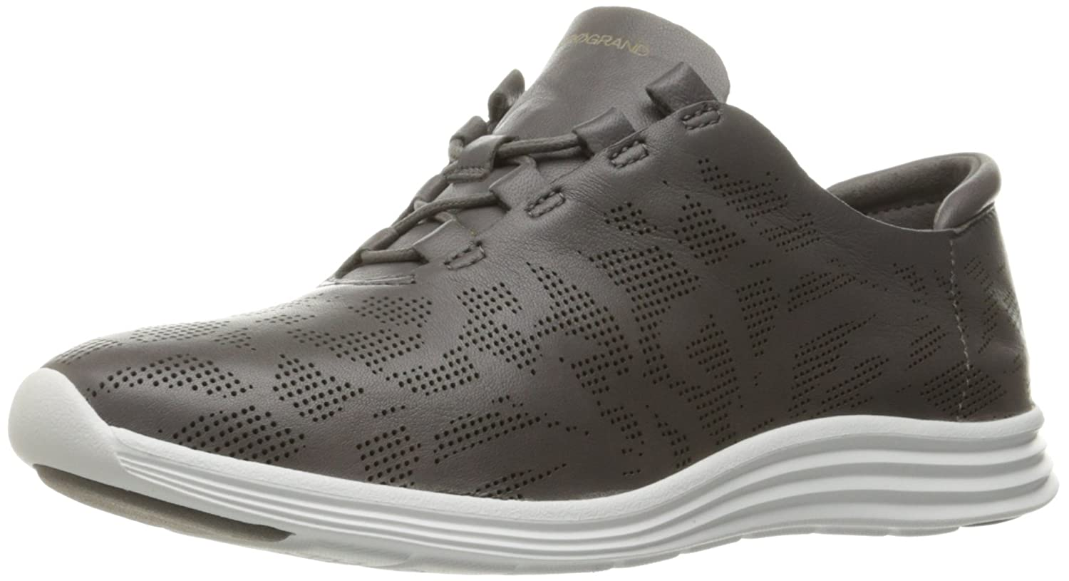 Cole Haan Women's Original Grand Perf Fashion Sneaker B01IQPMYCW 8.5 B(M) US|Storm Cloud Perforated Leather/Optic White