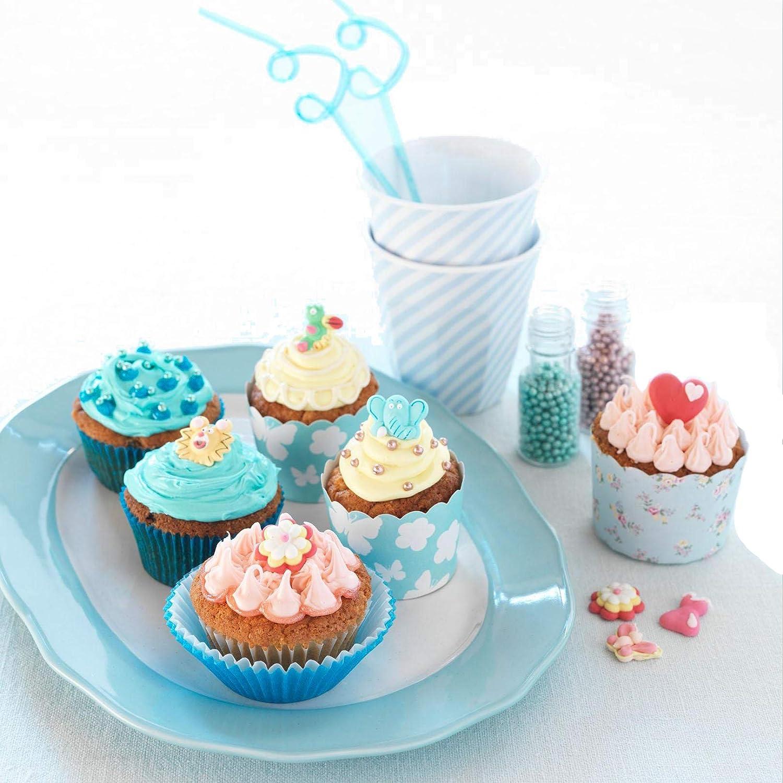 Cupcakes Muffin Biscotti LEAMALLS 50 Pezzi in Acciaio Inox Decorazione Pasticceria Ugello Tubazioni Icing Sacchetti Dolci Accessori per Torte Strumento Utensili Pasticceria Pasticcini