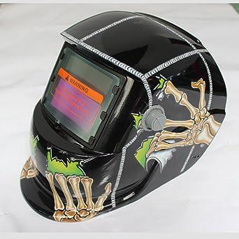 SUAVER Casco De Soldadura Ajustable,Eléctrico máscara de Soldadura Automático Solar Energía Máscara de Fotosensible
