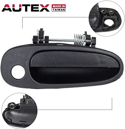 Black Outside Door Handle Front Right Passenger Side Exterior
