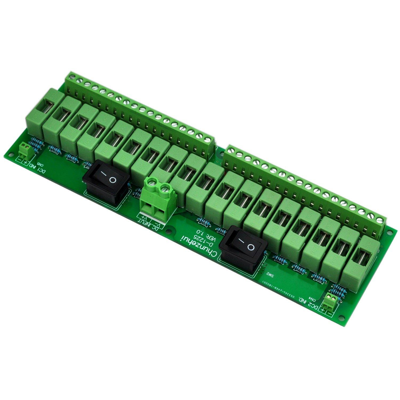 Electronics-Salon 18 Channels 12V/24V 20A Power Distribution Fuse Module, For CCTV Security Camera ect DIY. by Electronics-Salon (Image #3)