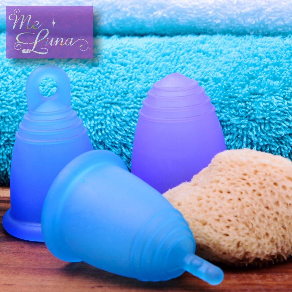 Bola Me Luna Menstrual Taza Classic tama/ño M Azul de Glitter
