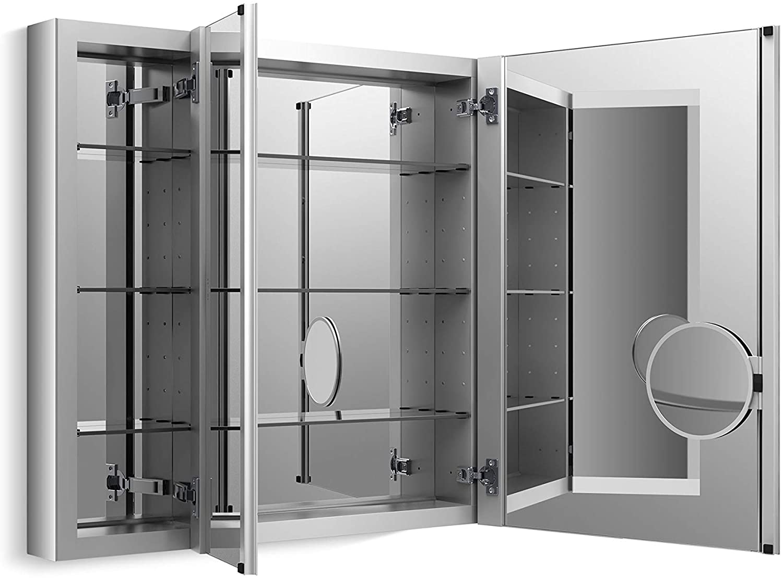 Amazon Com Medicine Cabinet By Kohler Bathroom Medicine Cabinet With Mirror Verdera Collection 40 Inch X 30 Inch Slow Close Magnifying Mirror K 99011 Na Home Improvement