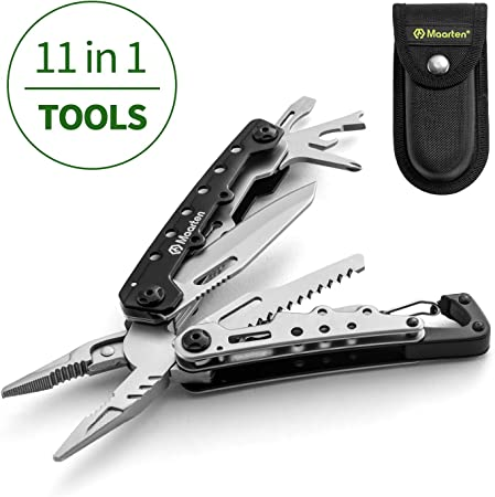 Outdoor Survival Stainless Steel Multi Tool Plier 13 In1 Portable Compact Pocket