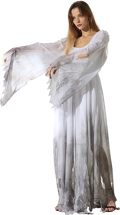Ghost Costume Adult Ghostly Gentleman Halloween Fancy Dress