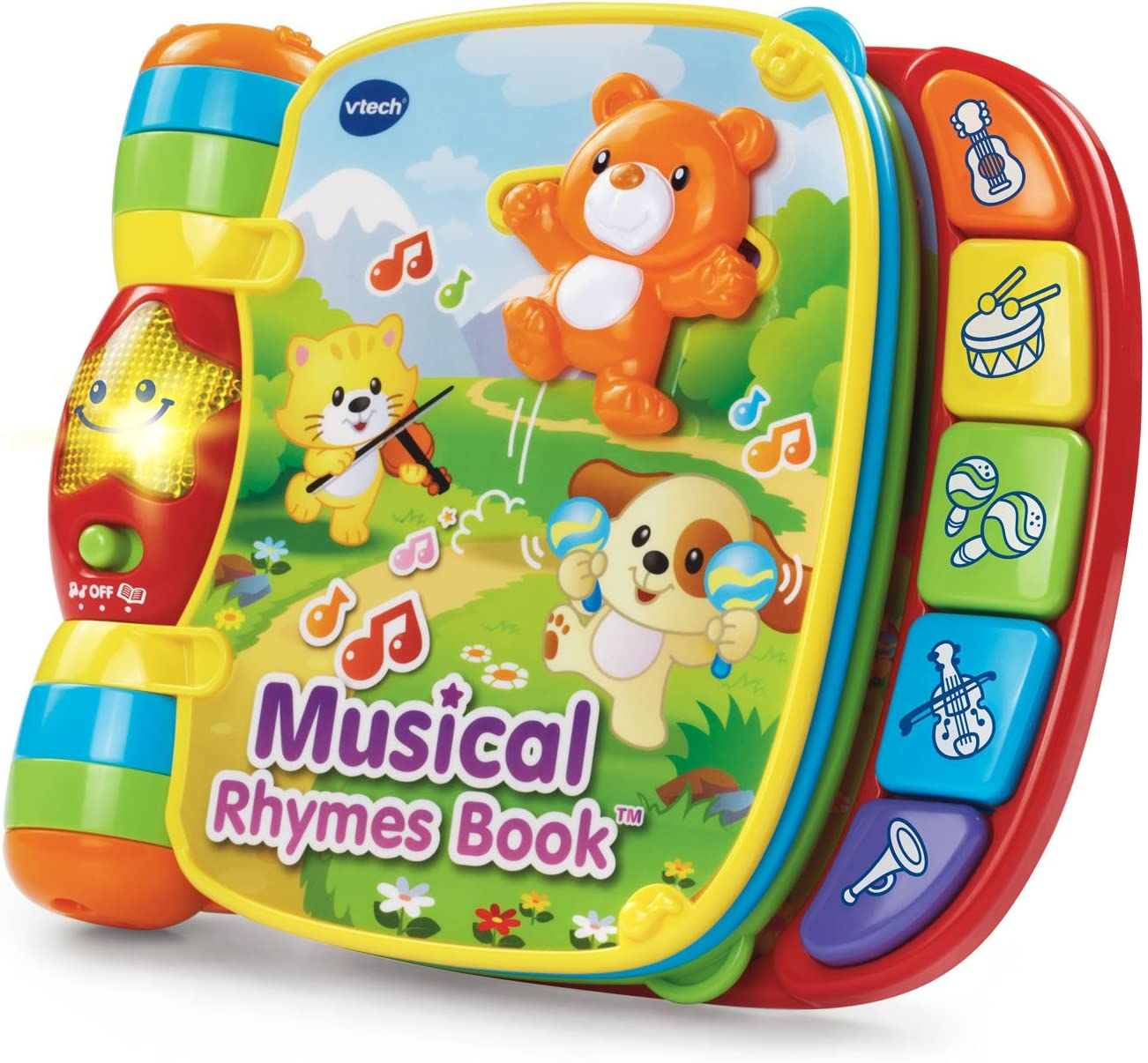 VTech Musical Rhymes Book Baby Toy Toddler Educational Learning Red 6-36 Months