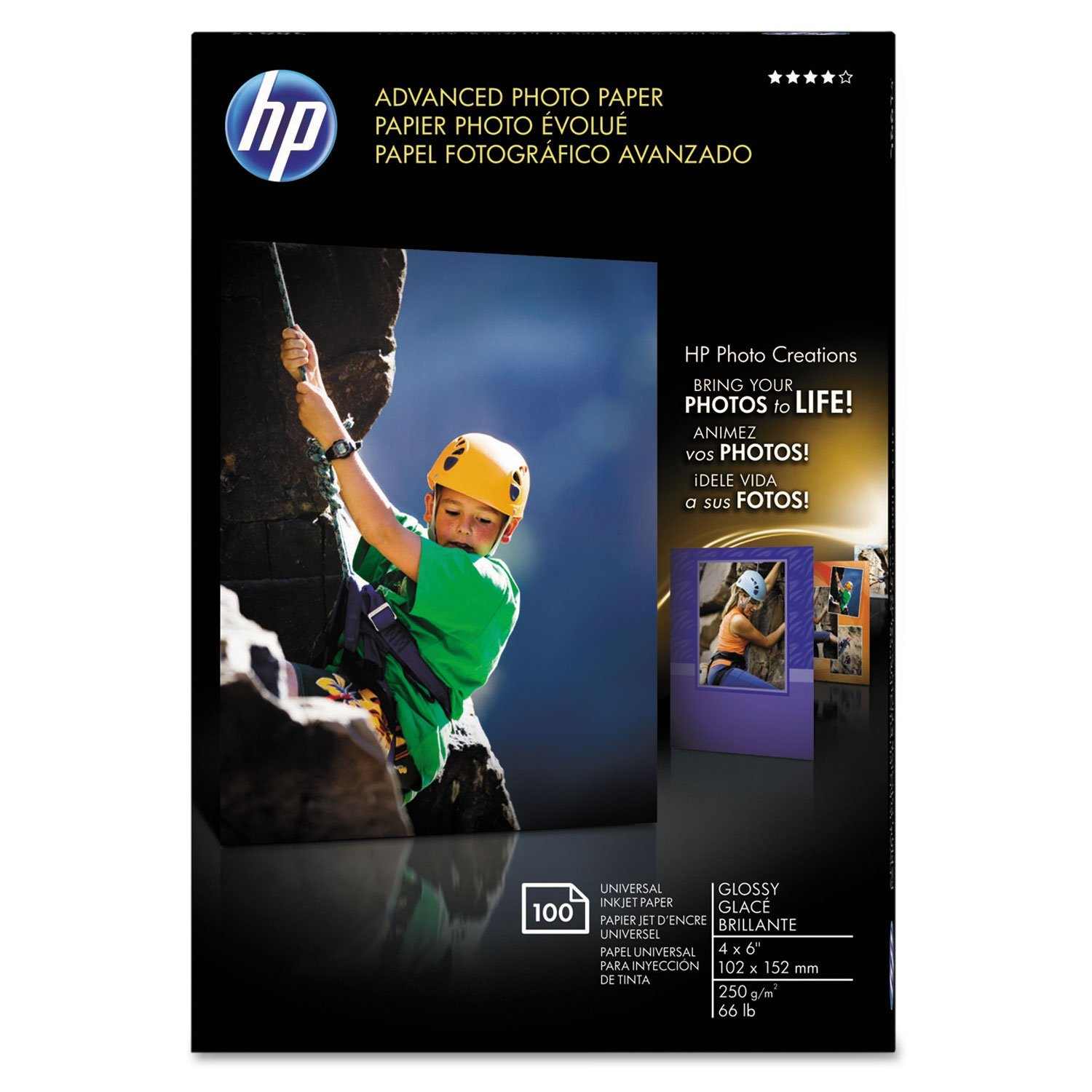 Advanced Photo Paper, Glossy, 4 x 6, 100 Sheets/Pack