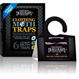Dr. Killigan's Premium Clothing Moth Traps with Pheromones Prime | Non-Toxic Clothes Moth Trap with Lure for Closets & Carpet