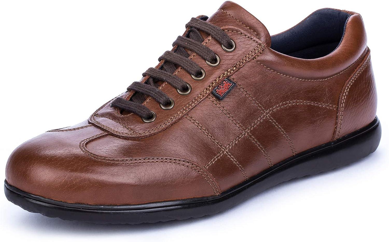 DCalderoni Aneto Marrón Zapato Piel Casual con Cordones para Hombre 40-50 EU