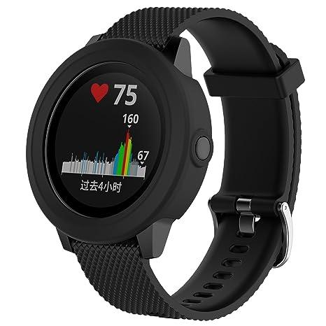 XIHAMA Housse de Protection pour Garmin Vivoactive 3 GPS Montre Intelligente, Coque en Silicone résistant