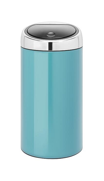 Touch Bin 45 Liter.Brabantia De Luxe Touch Bin 45 Liter Caribbean Blue Amazon Ca