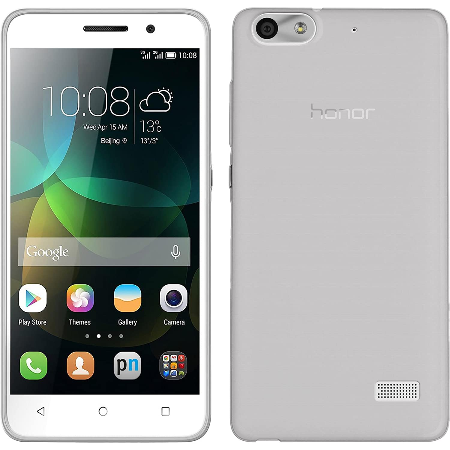 outlet store 844e4 e3ef3 Amazon.com: Silicone Case for Huawei Honor 4c - Slimcase transparent ...