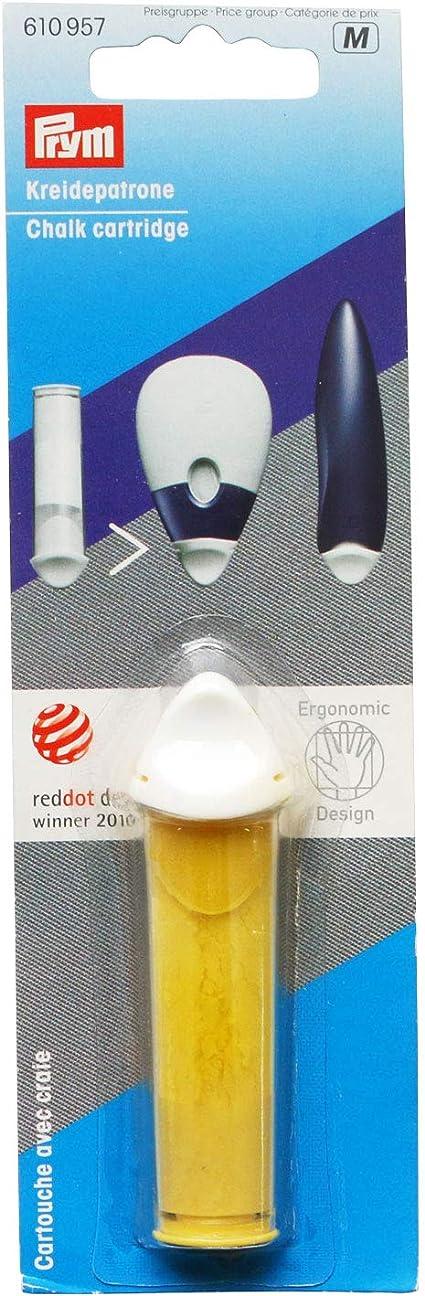 Prym Ronde Rockabilly Plastique 80 cm Argent/é//Gris Graduation /& Cartouche de craie jaune pour ergonomic