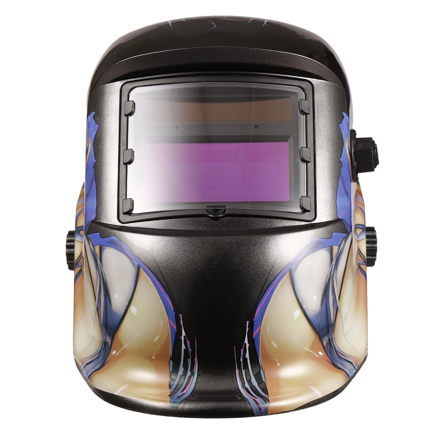 72c9d917328c2 Welding Helmet Solar Arc Tig Mig Auto-Darkening Welding Hood Mask Hats  (blue)... (black3) - - Amazon.com