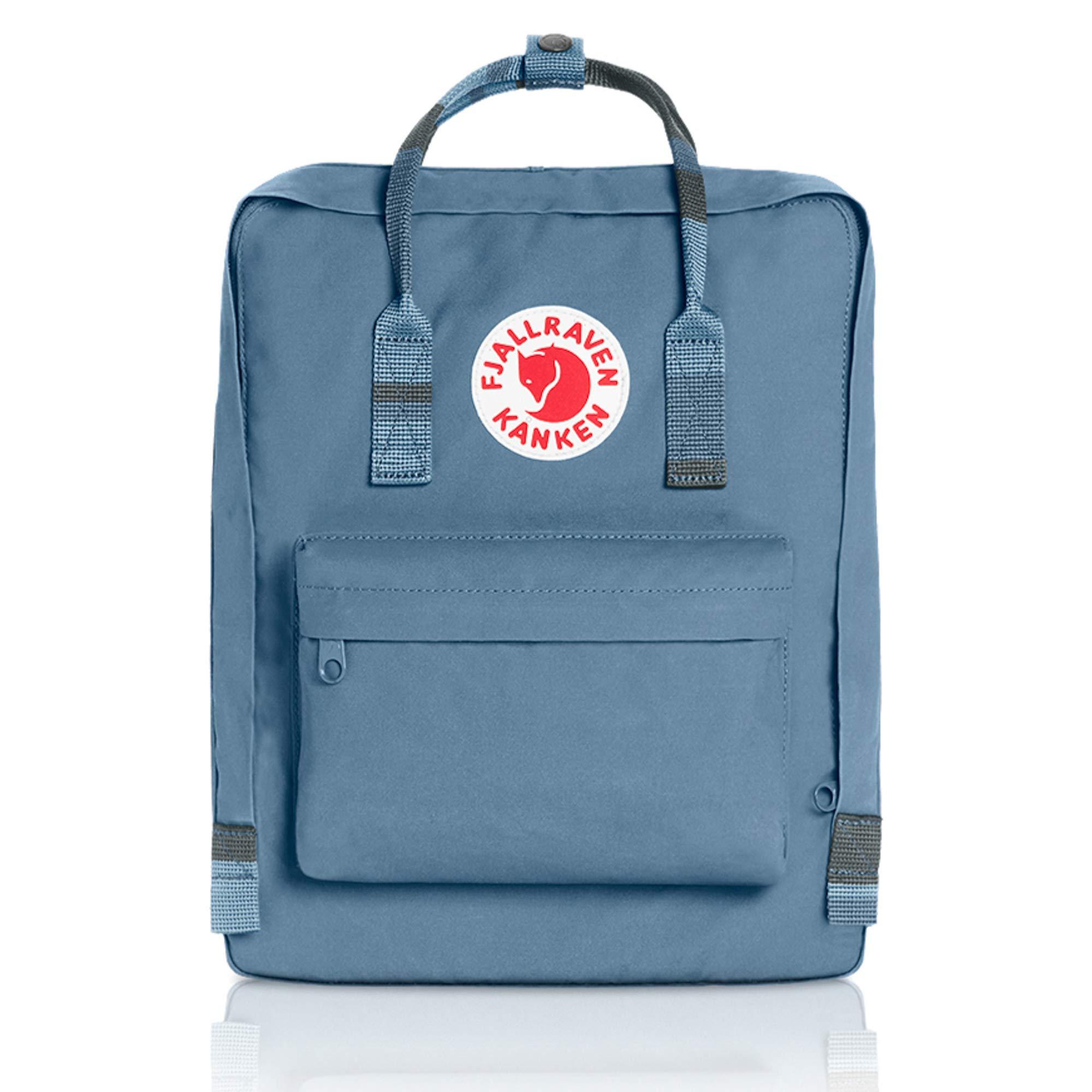 Fjallraven - Kanken Classic Backpack for Everyday, Blue Ridge-Random Blocked