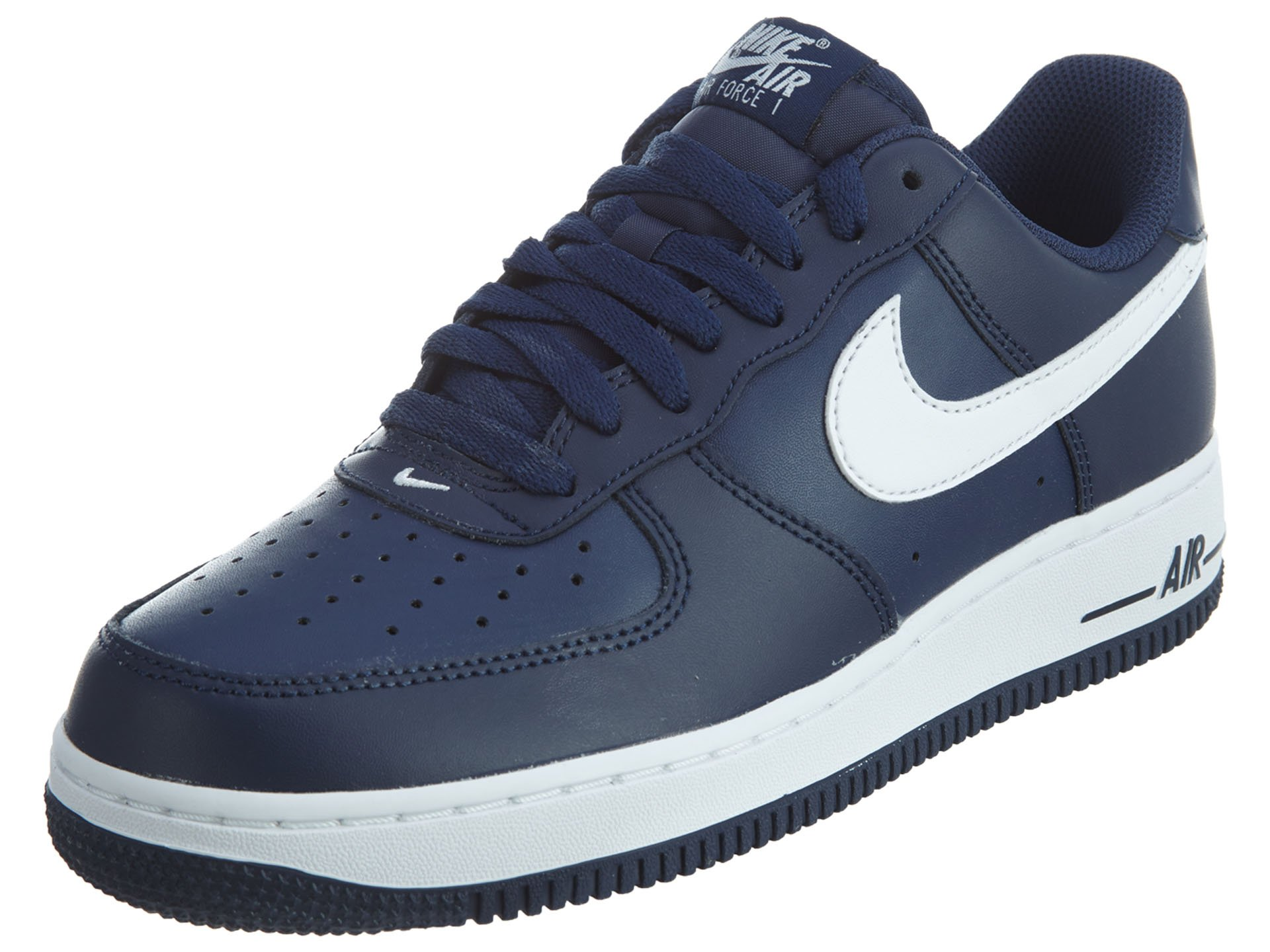 Nike Men's Air Force 1, MIDNIGHT NAVY/WHITE-MID NAVY, 14 M US