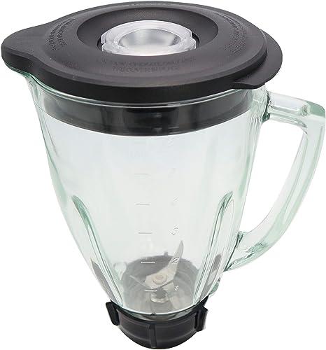 Blendin - Conjunto de jarra de cristal con cuchilla, junta, base ...