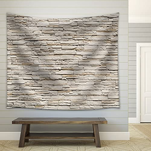 wall26 – Stone Brick Modern Wall – Fabric Wall Tapestry Home Decor – 68×80 inches