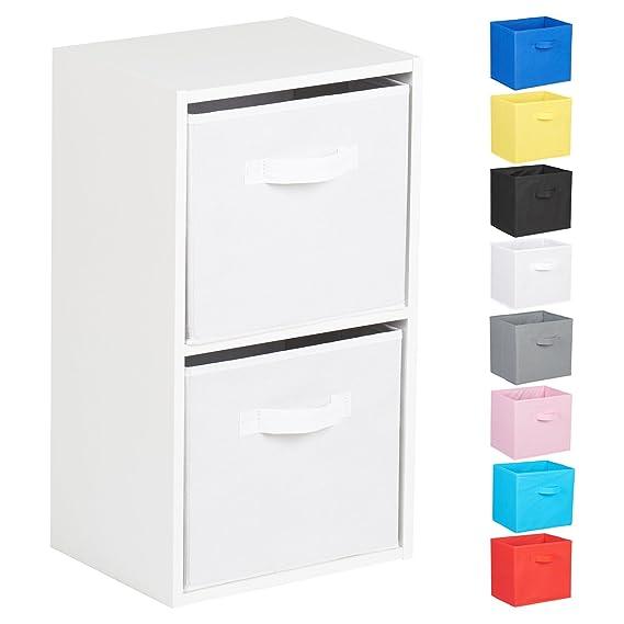 Hartleys Unidad de almacenaje de 2 estantes Tipo Cubo de Color Blanco Varias Cajas Disponibles: Amazon.es: Hogar