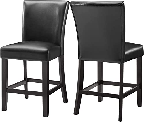 2 Pieces High Elastic PU Leather Dining Chair