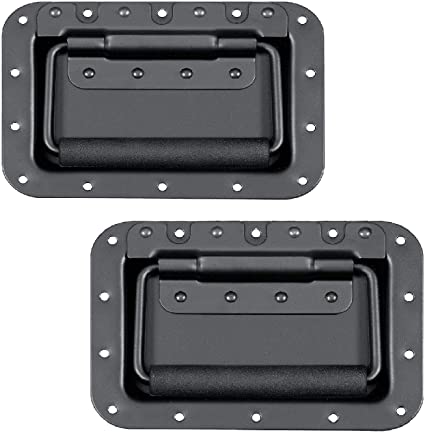 2 Pack Universal Spring Loaded Chest Handles with Rubber Grips