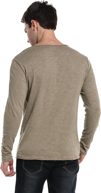 Coofandy Men/'s Long Sleeve T Shirts Fashion Tee Basic Shirt Casual Daily Wear