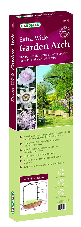 Gardman 1,9 x 1 m 1.9 x 1 m Garten Arch – Schwarz: Amazon.de: Garten