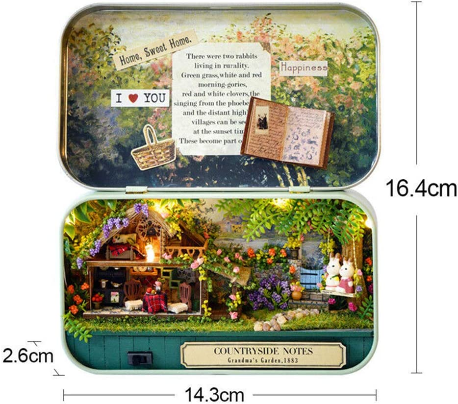 PTLAWS DIY Dollhouse Miniatura 3D Doll House Kit Caja Teatro Ni/ños Juguete Regalo Decoraci/ón para el hogar A