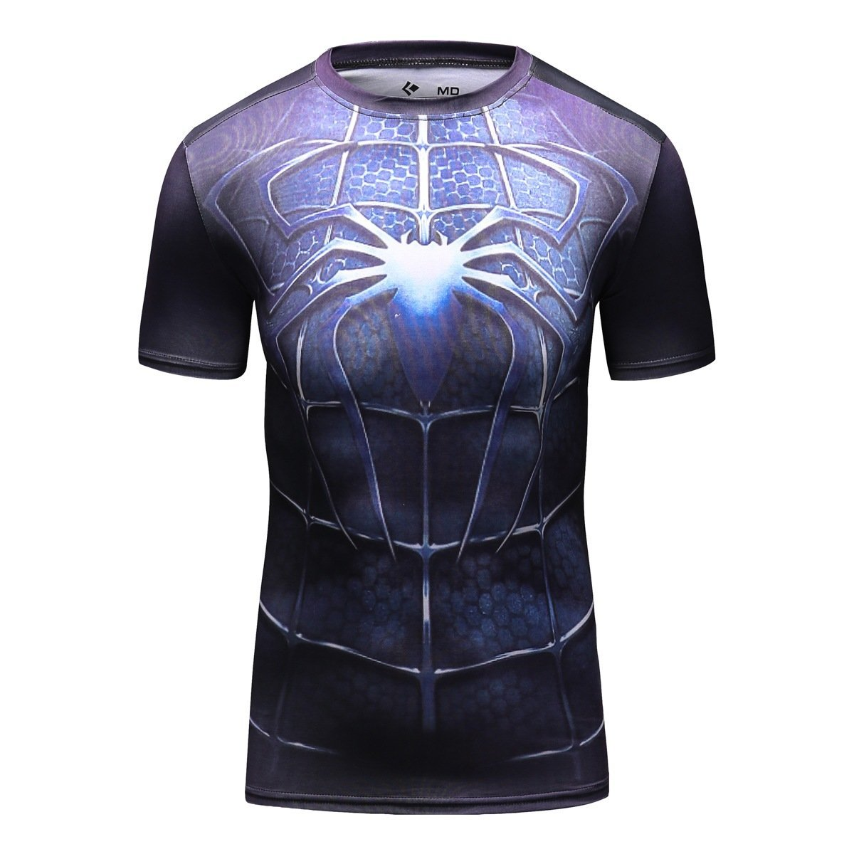 Image of Cody Lundin Men's Compression Rash Guard Dark Spider Hero