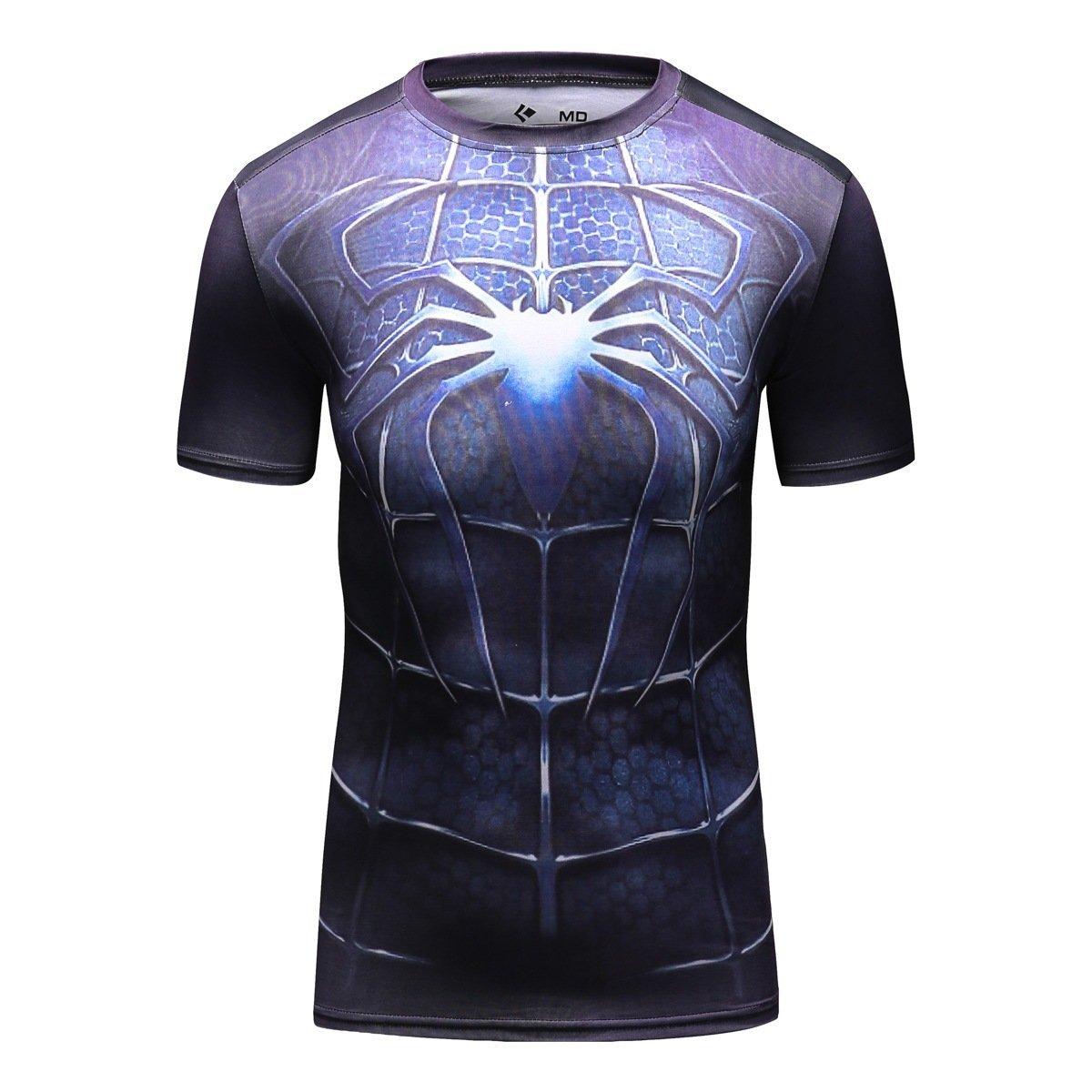 Image of Cody Lundin Men's Compression Rash Guard Dark Spider Hero