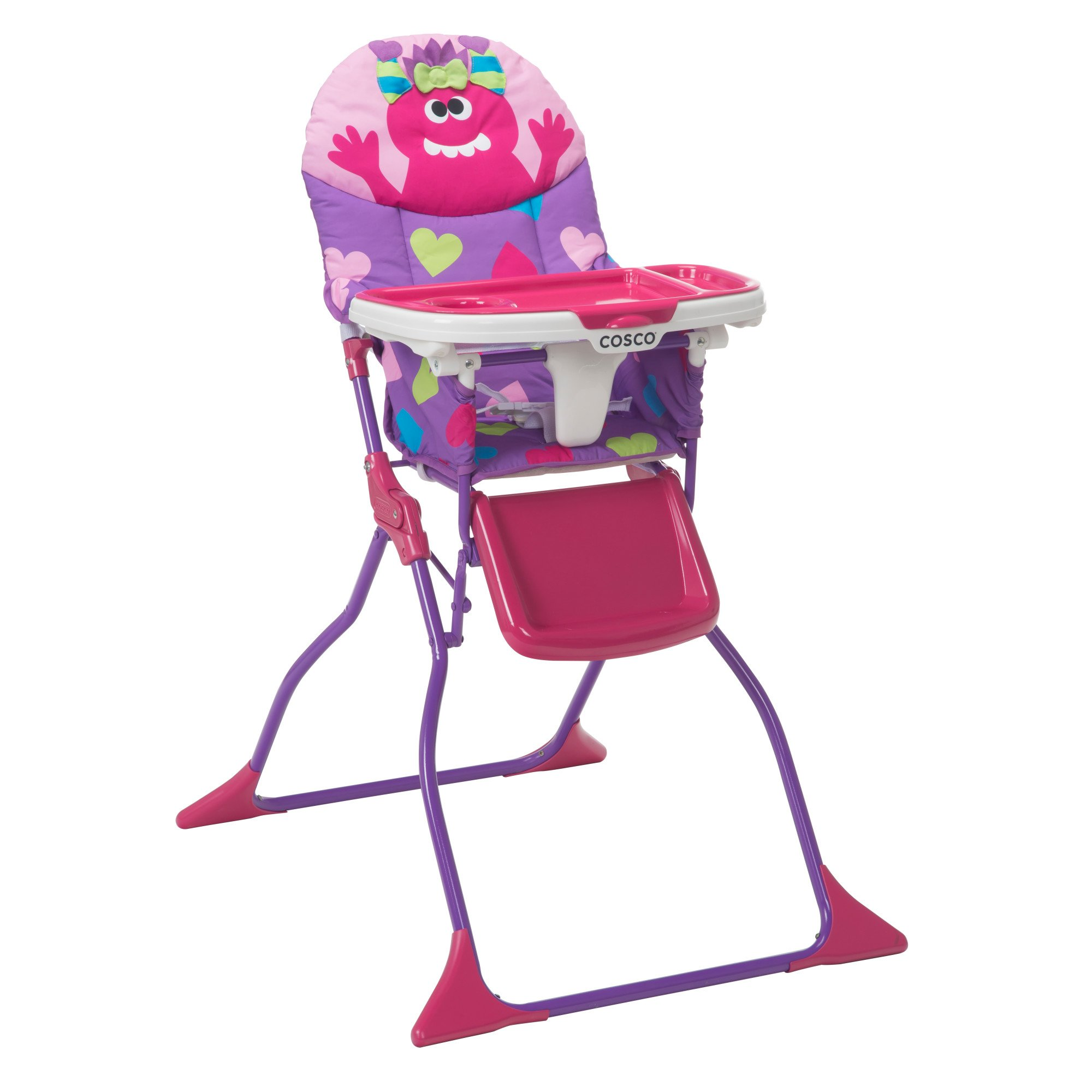 Cosco Simple Fold Deluxe High Chair, Monster Shelley by Cosco